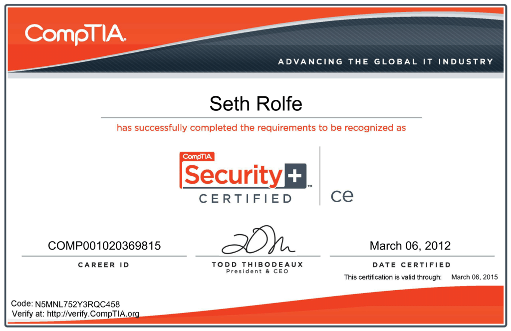 Comptia Security +